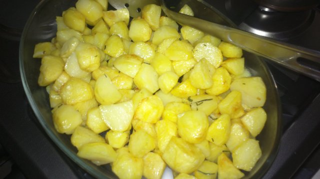 Roast potatoes are ready.....!