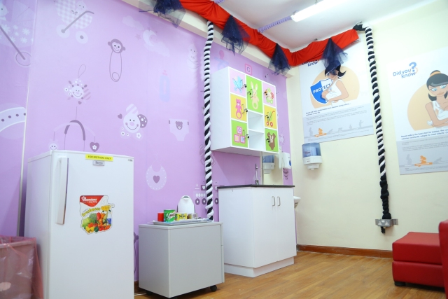 Inside the Breastfeeding Centre