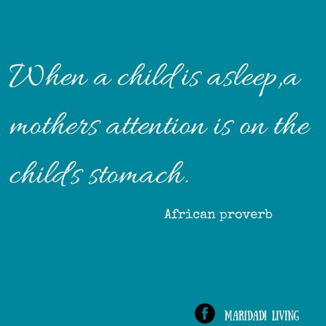 When a child is asleep,a mothers