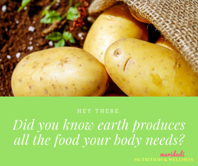 Eath produces the food your body needs! (1)
